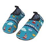 Kinder Badeschuhe Wasserschuhe Strandschuhe Schwimmschuhe Aquaschuhe Surfschuhe Barfuss Schuh für Jungen Mädchen Kleinkind Beach Pool(Grün 20 21)