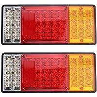 Jullyelegant 2pcs 44LED Lampen-Plastikrahmen-Endstück-Licht-Bremsleuchten für LKW-Anhänger