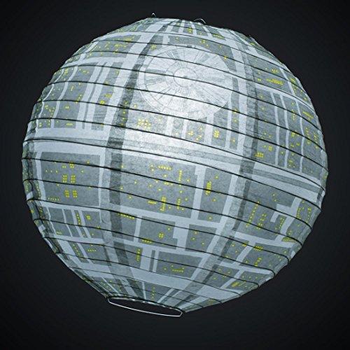 Star Wars Estrella Muerte Lámpara Sombrilla Papel