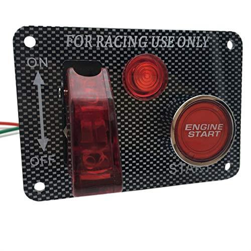 Power Off Switch Panel Multifonction Qualité Allumage Interrupteur De Démarrage Bouton Poussoir Rouge Kit Avion pour Voiture De Course