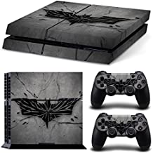 Elton Batman Logo Grey Theme 3M Skin Sticker Cover For PS4 Console And Controllers