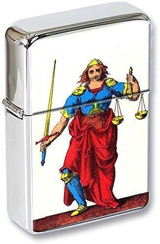 Tarot (La justice, Justice) Mechero con tapa EN UNA LATA DE REGALO