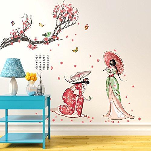 ber Kostüm Beautys Kreative PVC Wohnzimmer Home Schlafzimmer Dekoration Wasserdicht Kunst Aufkleber Abnehmbare Abziehbilder Selbstklebende 110X140 cm ()
