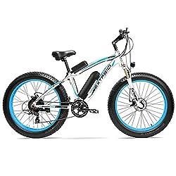 Cyrusher Extrbici XF660 48V 500 Watt Weiß Blau Mans Elektro Fahrrad Mountain Bike 7 Geschwindigkeiten Elektro Fahrrad Scheibenbremsen