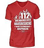 Feuerwehr Feuerwehrmann Feuerwehrfrau Feuerwehrleute Hausbesuche Geschenk - Herren V-Neck Shirt