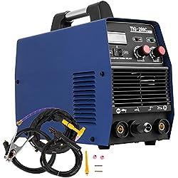 Chrisun Soudeuse d'inverseur ARC MMA/TIG Soudeuse 200A Soudeuse Machines Portable Machine De Soudage électrique (200A Soudeuse)