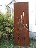 Zen Man Garten Sichtschutz aus Metall Rost Gartenzaun Gartendeko edelrost Sichtschutzwand 150 * 50cm 101553