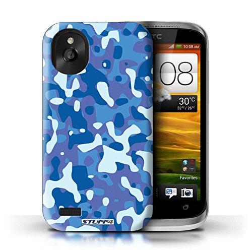 Kobalt® Imprimé Etui / Coque pour HTC Desire X / Vert 2 conception / Série Armée/Camouflage Bleue 3