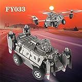 TianranRTFy033 Con Wifi Fpv 30W Altitud de La Cámara Mantener El Tanque Volador Rc Quadcopter Drone de Juguete (Gris)