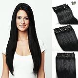Best Extensions de cheveux humains - 35,6cm # 1jet black Extensions de cheveux humains Review