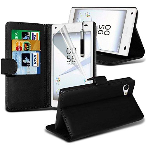 Fall für <b>      Sony Xperia Z5 hülle     </b>     Case Universal Car Phone Halter Halterung Armaturenbrett und Windschutzscheibe für iPhone y i -Tronixs Wallet + Pen( Black )