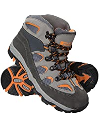 Mountain Warehouse Oscar Kids Walking Boots – Suede Children's Running Shoes, Sturdy Grip, Padded Ankles Summershoes, Strong Outsole, Soft Walking Shoes – For Travelling