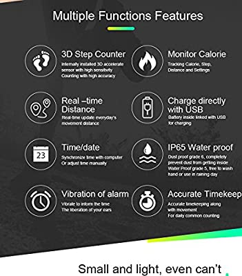 elecfan T5S Smart Bracelet Watch with Vibrating Realtime Showing Waterproof Smart Wristband LED Screen Fitness Tracker Sports Sleep Smart Watch from elecfan