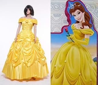 La Belle et la Bête (Beauty and the Beast) Belle Robe Jaune Cosplay Costume Déguisement - *Sur Mesure*