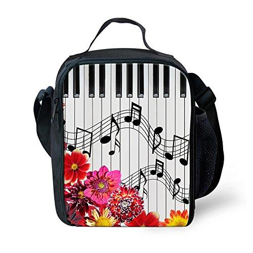 nopersonality Musik Notizen klein Isolierte Lunch Tasche Lunchbox für Kinder Teens Größe S Music Notes7