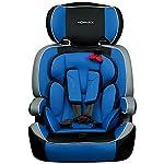 XOMAX XM-K4 BLUE Kindersitz 9-36 kg, Gruppe I / II / III, ECE R44/04 geprüft, Farbe: Blau, Schwarz, Grau + mitwachsend + 5-Punkte-Sicherheitsgurt + Kopfstütze verstellbar + Rückenlehne abnehmbar / Bezüge abnehmbar & waschbar