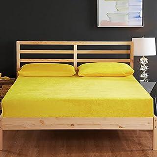 FHFGHYURBNYFGHFBY Pure Color Single Bed/einzelbett/doppelbett mit einzelbett/matratzenbezug/staubdichte Abdeckung-H 180x200cm(71x79inch)
