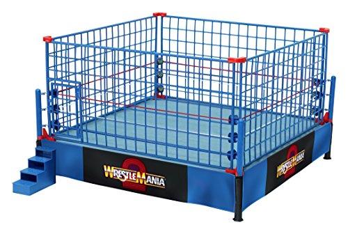 wwe-il-ring-ufficiale-in-scala-di-wrestlemania-2-con-gabbia-blu-limited-edition-combo