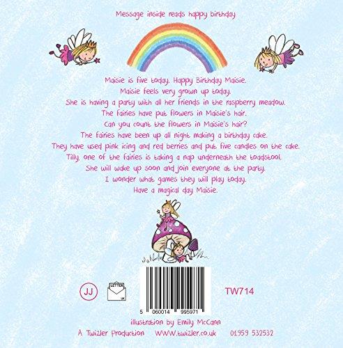 Twizler Biglietto Di Auguri Di Compleanno Per I 5 Anni Con Unicorno