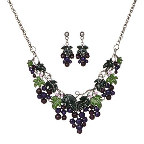 frauen-elegante-schmuck-set-lila-trauben-halskette-ohrringe-naturliche-frucht-set