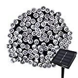 Tuokay, Solar Garden Lights, Outdoor Fairy Lights, Waterproof 72ft 22m 200 LED 8 Twinkling Modes, Decorative Lighting String Lights for Home, Gazebo, Patio, Lawn, Wedding Ornament (White)