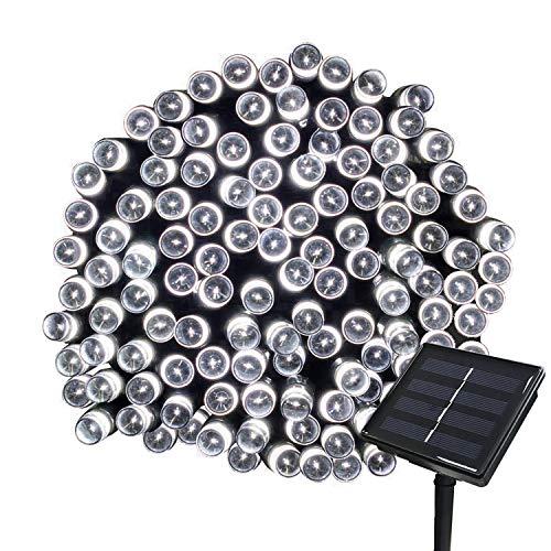 Tuokay 22M 200 LED Luci Giardino Energia Solare Luci da Esterno Luci Stringa Illuminazione per Addobbi Natalizi Catene Decorazione Natalizie Albero di Natale Giardino Patio, (Bianca)