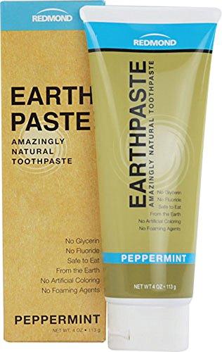 4 Unze Zahnpasta (Redmond earthpaste natur non-flouride Zahnpasta, Pfefferminze, 4Unze)