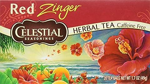 Celestial Seasonings Herb Tea, Red Zinger, 20-Count Tea Bags (Pack