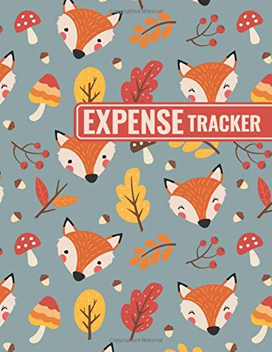 Expense Tracker: Personal Cash Management Daily Record Organizer Notebook with Fox Themed Cover Design