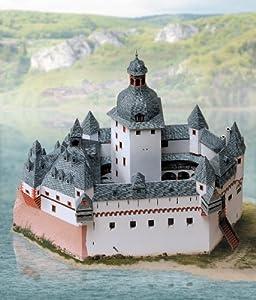 """aue-verlag 30x 14x 25cm) Kit de modelo """"Castillo de Pfalz cerca de Kaub"""