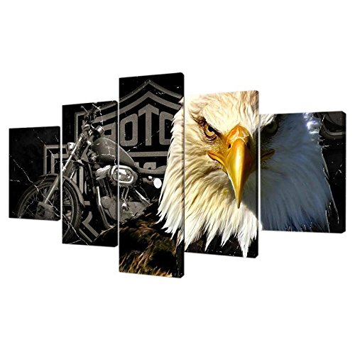 ELECTROPRIME 5Pcs Canvas Home Decor Wall Abstract Art Painting Picture Falcon Eagle L