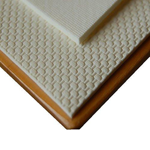ODERTEX Der echte Rutschfeste Tischschoner eckig ist beidseitig gummiert, Tischschutz Unterlage in weiß 080 x 080 cm (Tischdecke Unterlage)