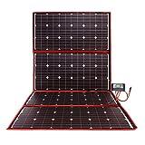 DOKIO 300 W Solarpanel-Set, tragbar, flexibel, zusammenklappbar, inkl. Solarladeregler und PV-Kabel für 12 V Akku-Ladegerät, Wohnmobil