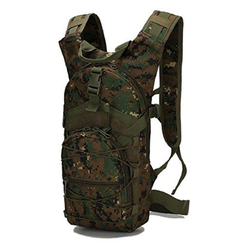 LF&F Backpack Camping outdoor Zaini Borse Tattiche di viaggio esterne di svago tute di sport del camuffamento borsa dell'acqua impermeabile indossare Tear resistente 15L zaino doppio della spalla A 15 F