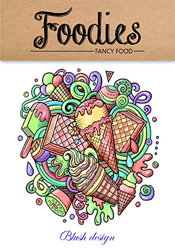 Fancy Food (Adult Coloring Book) (English Edition)