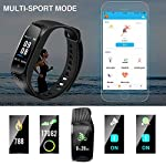 Hommie Man Women Fitness Tracker Heart Rate Monitor Smart Bracelet Swimming Waterproof Wristband Smart Watch With CallSMS Reminder Pedometer Sports Pink Black Blue