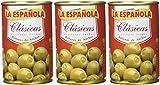La Española - Aceitunas verdes rellenas de anchoa clásicas - 300 g - [Pack de 3]
