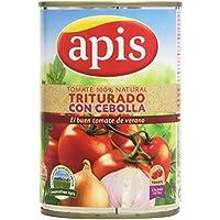 Apis - Tomate natural triturado con cebolla - Extra - 400 g - [Pack de 6]