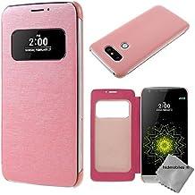 Housse etui coque portefeuille s-view pour LG G5 SE + film ecran - ROSE