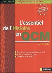 L'essentiel de l'Histoire en QCM : 1000 QCM corrigés et commentés