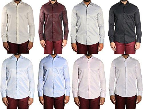 MUGA -  Camicia classiche  - A righe - Maniche lunghe  - Uomo Blu