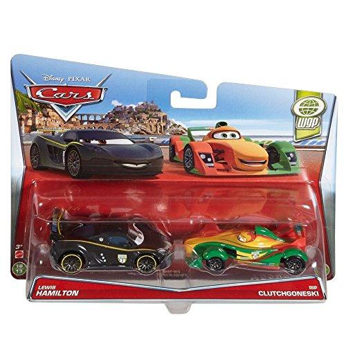 Matchbox Cars Disney (Disney Cars Cast 1:55 - Auto Fahrzeuge Doppelpack zur Auswahl, Typ:Lewis Hamilton & Rip Clutchgoneski)