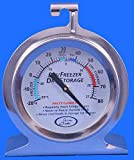 Stainless Steel Fridge Thermometer 50mm Dial