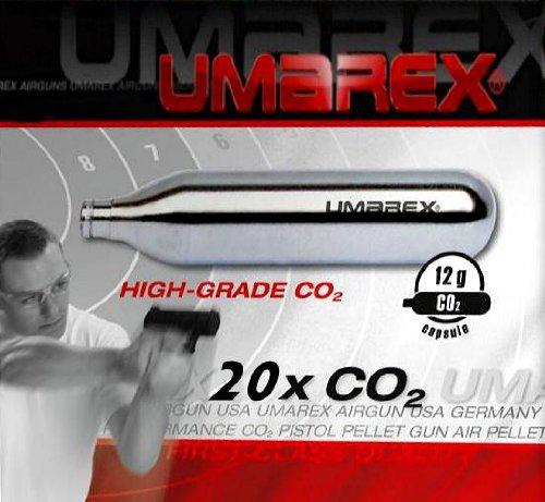 20 UMAREX 12g Co2 Kapseln für Softair, Painball, Luftpistolen oder Luftgewehre Test
