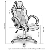 Merax® Bürostuhl Racing Stuhl Sportsitz Chefsessel Drehstuhl PU Schwarz  Bürodrehstuhl Mit Hoher Rückenlehne   Farbauswahl