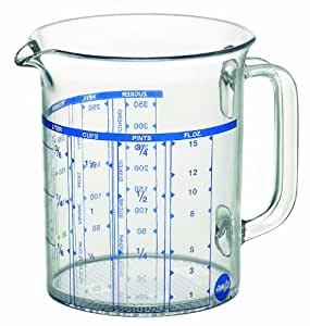 Emsa 2217050000 Superline measuring jug, 0.5 litre, transparent/blue
