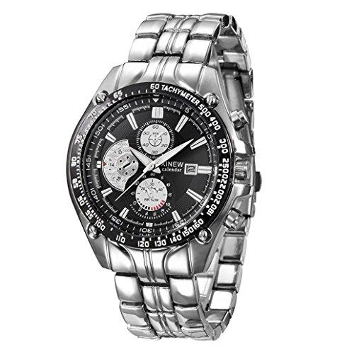 Xinantime Reloje Hombres,Xinan Militar de Acero Inoxidable Reloj de Pulsera Analógico