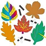 Baker Ross Kratzbild-Magneten Herbstblätter -Kratzbilder mit Magneten für Kinder zum Gestalten, Toll als Kühlschrankmagnet (10 Stück)