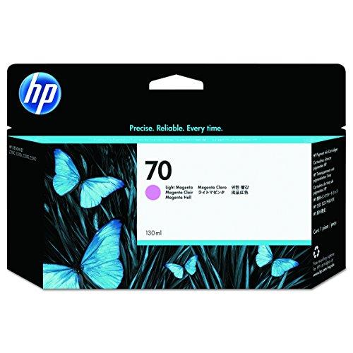 HP 70 Magenta hell Original Tintenpatrone, 130 ml (70 Designjet Hp)