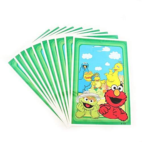 Tyro 10pcs/Lot Sesame Street Theme Cartoon Plastic Gift Bag Baby Shower Happy Birthday for Kids Gift Party Decoration Supplies